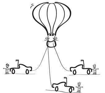 Priristas oro balionas