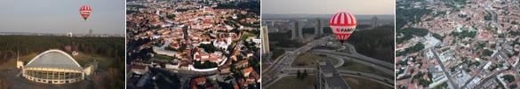 Skrydis oro balionu Vilniuje