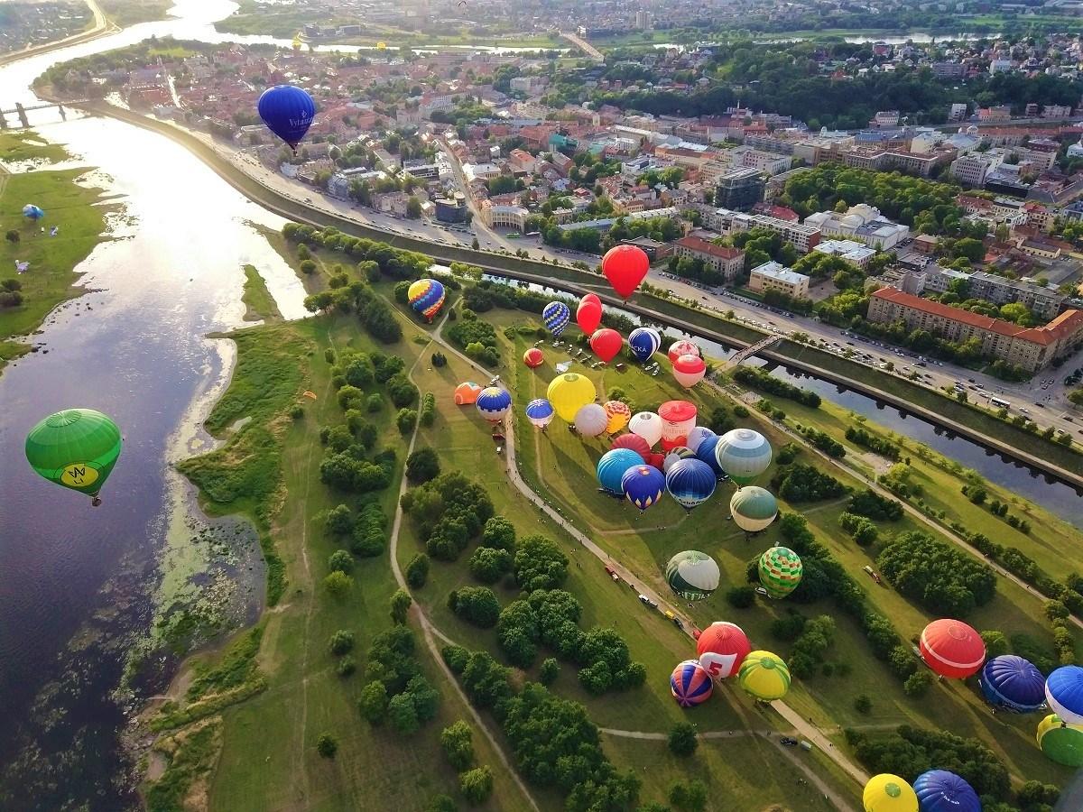 skrydis oro balionu Kaune